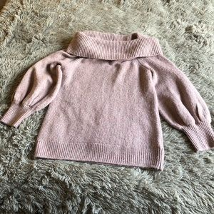 Express Shoulder Balloon Sleeve Sweater